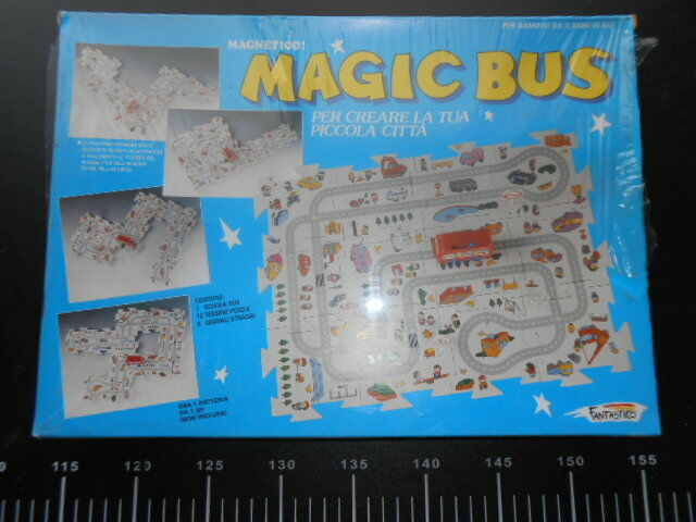 Magic Bus Fantastico Puzzle Magnetico Crea Città Cars VINTAGE