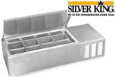 """SILVER KING REFRIGERATED COUNTER PREP TABLE 43"""" 8 PAN MODEL SKPS8-C1"""