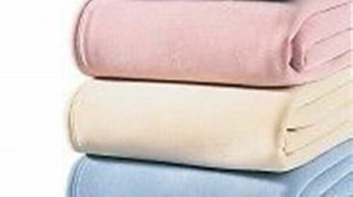 Comfysoft Comfylux acrylic Blanket IVORY DOUBLE SIZE  Hotel quality 2NDS