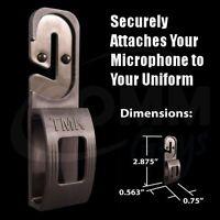 Tactical Mic Klip (tmk) Speaker Microphone Holder Clip For Police Emt Fire Tsa