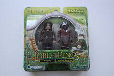 Lord of The Rings Minimates Aragorn & Uruk-hai Berzerker 2004 Series 1 Figures