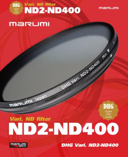 Cámara digital Marumi DHG variable ND2-ND400 58mm filtro d-DHG58VND