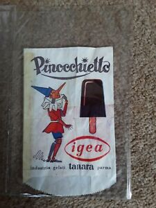 Extremely rare 1958 wax Italian lollipop wrapper.