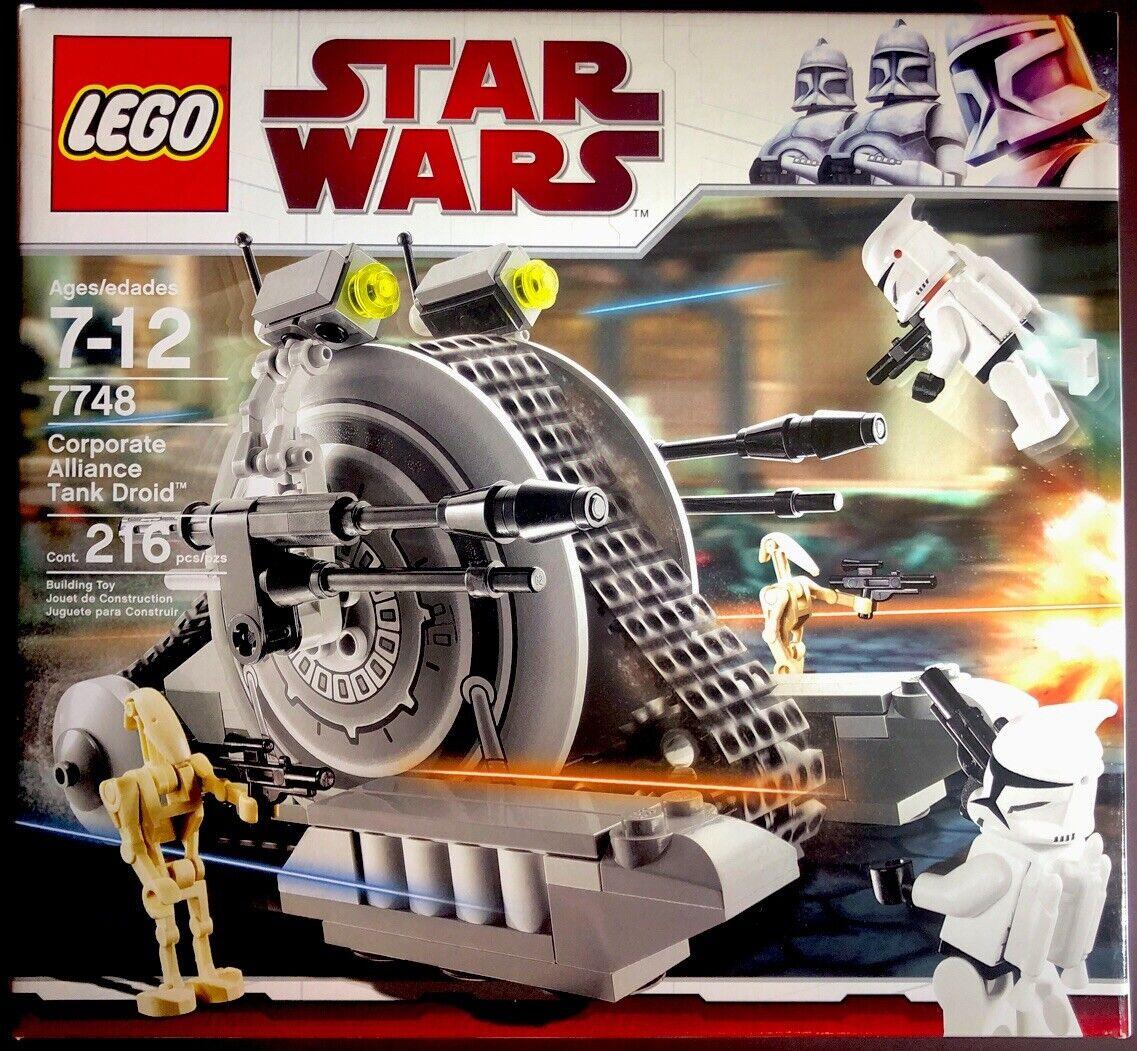 LEGO 7748 Star Wars CORPORATE ALLIANCE TANK DROID Battle Clone Trooper 216pc NEW