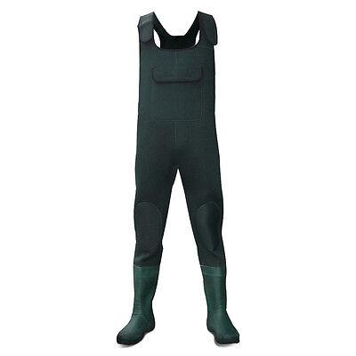 Dirt Boot ® In Neoprene Verde Sul Petto Trampolieri 100% Impermeabile Pesca Grossa Muck Dello Stivale-