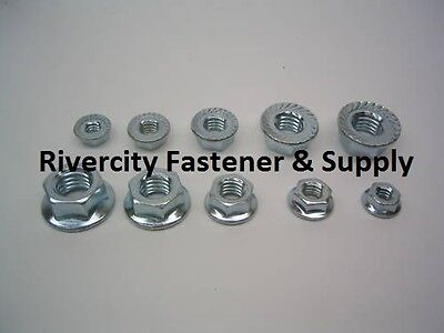 3//8-24 Serrated Flange Lock Nuts//Spin Whiz Nut Zinc Plated 3//8x24 Fine 200