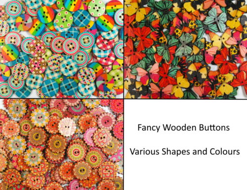 Fancy Printed Wooden Buttons Unique Lovely Prints Big Selection