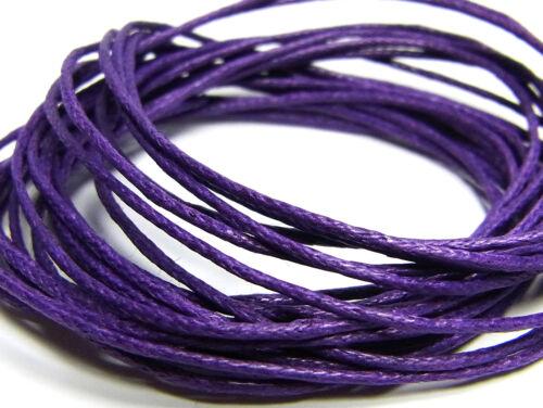 Lila; 10 metros de cordón encerado 3172 Ø 1 mm