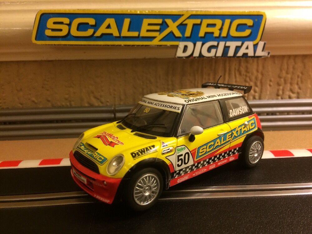 Scalextric Digital Mini Cooper 50th Anniversary Dawson No 50 C2773