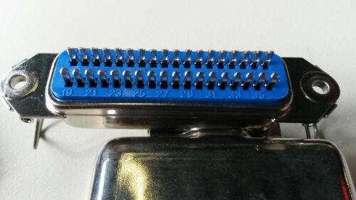 2x NOSTALGIE 36 pol Einbau BUCHSE CENTRONIX 1x Gehäuse PC+MODELLBAU etc.