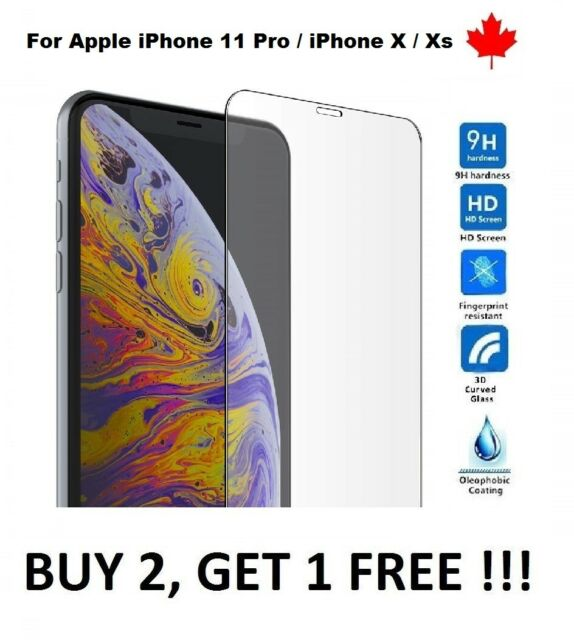 """For iPhone 11 pro Max / XS Max 6.5"""" Tempered Glass Hard Screen Protector Cover"""