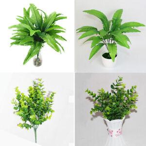Artificial-Plant-Fake-Flower-Leaf-Foliage-Bush-Indoor-Home-Office-Garden-Decor