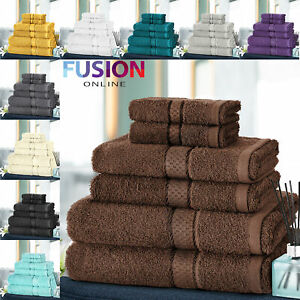 6pc-Towel-Bale-Set-Luxury-100-Egyptian-Cotton-Face-Hand-Bath-Bathroom-Towels
