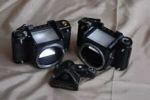 Two-Pantax-6x7-Camera-Bodys-and-Prism-Finder-Sale-As-Is-for-Parts-or-Repair