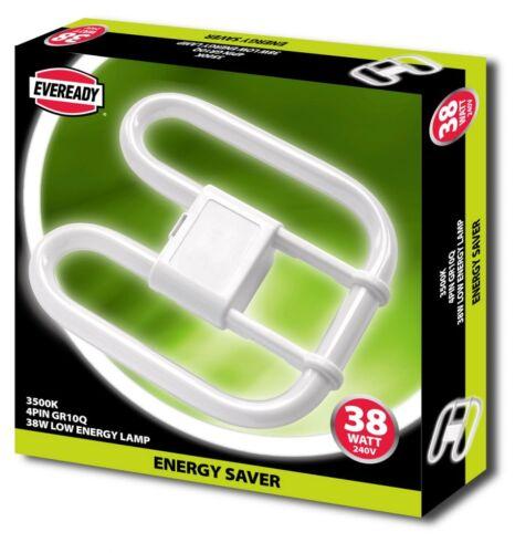 38w /& 55w Eveready 2D Energiesparende 4 Stecknadel GR10q DD Butterfly Lampe