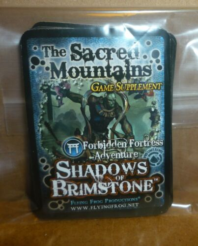 Shadows of Brimstone Forbidden Fortress SACRED MOUNTAINS Card Supplement