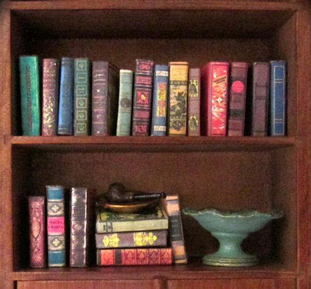 Vintage Style 21 Miniature Books Dollhouse 1 12 Scale Fill Bookshelf Prop  Book