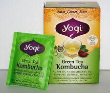 YOGI GREEN TEA KOMBUCHA  {ONE BOX!}  16 BAGS