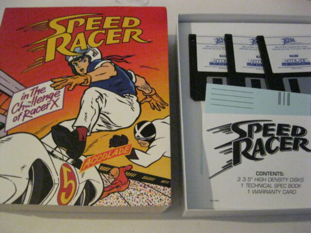 """Speed Racer in the Challenge of Racer X PC game 3.5"""" disk complete accolade"""