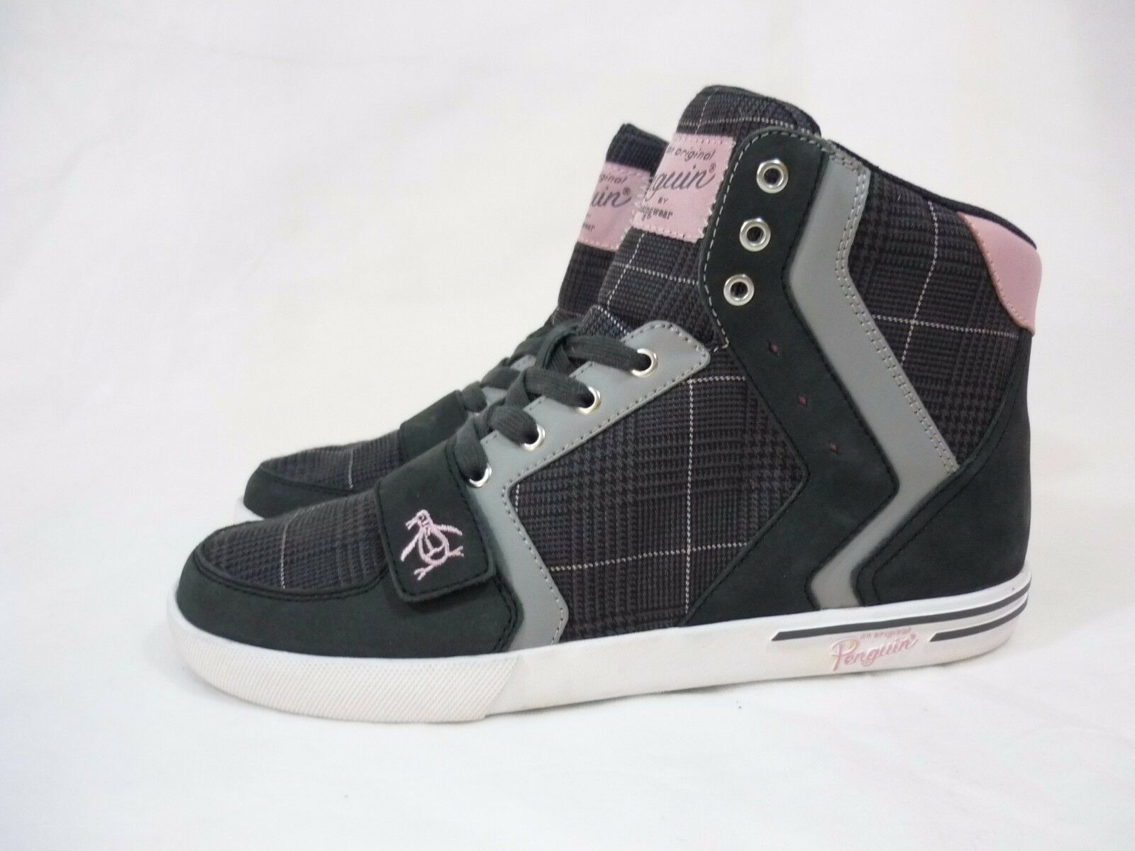 Original Penguin Moby Hi Top Sneakers Men's Shoes Dark Shadow Size 9 Leather New