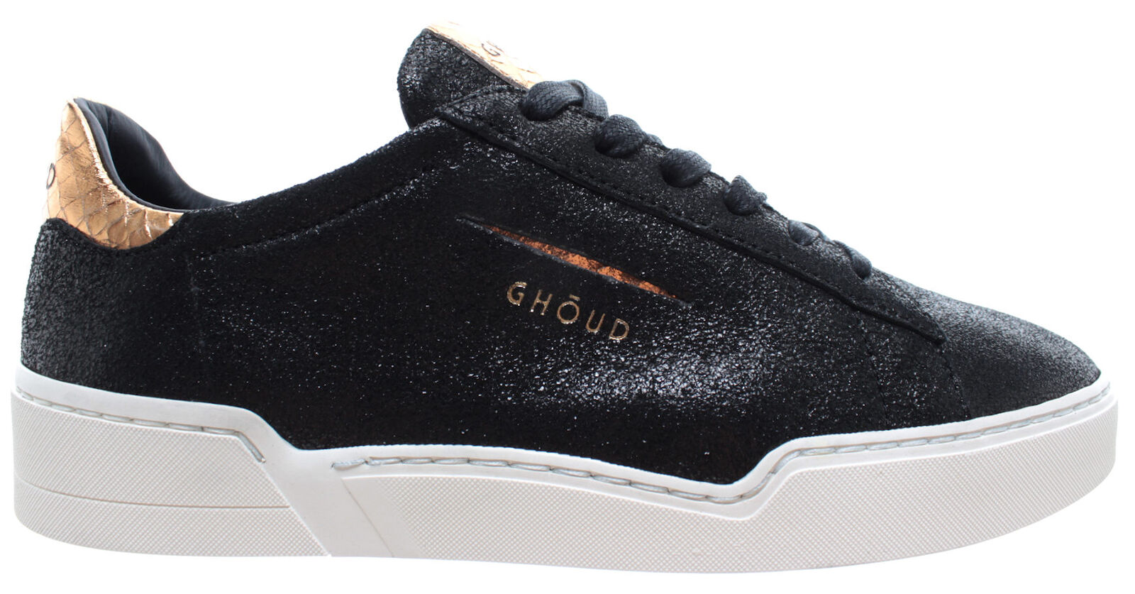 GHOUD Venice Women's shoes Sneakers Sneakers Sneakers Lob 02 Woman Low Salv Black gold Made  f8a9c9