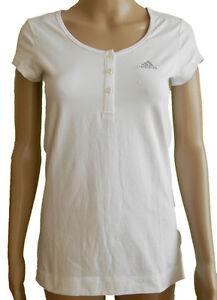 Adidas Ess Young Thé T-shirt Femmes Fitness Laufshirt Blanc Neuf T. Xs/34-afficher Le Titre D'origine