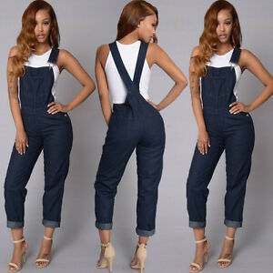 35bfb3d319b5 Details about US Women Fashion Denim Jeans BIB Pants Overalls Straps Jumpsuit  Rompers Trousers