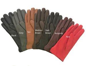 Womens-Genuine-Nappa-Sheepskin-Leather-Lined-Gloves