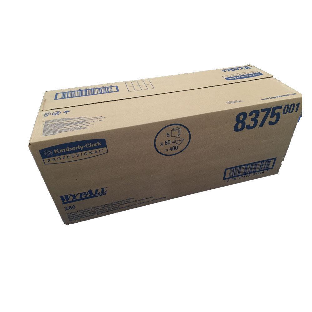 5x80 Tücher Wypall 8375 X80 Kimberly-Clark Wischtuch Wischtücher in der Zupfbox
