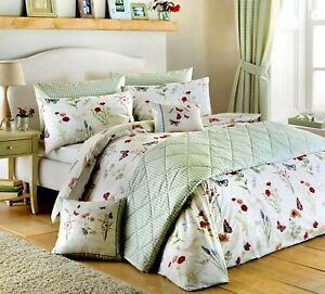 Dreams-amp-Drapes-COUNTRY-JOURNAL-Butterflies-amp-Meadow-Flowers-Duvet-Cover-Set