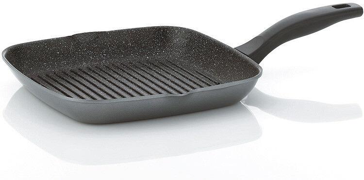 Kela Stoneline Poêle à Griller 28x28 cm Poêle à Frire Aluminium Induction Poêle