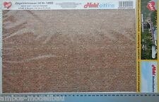 (34,15€/m²) Heki 14002 Ziegelsteinmauer, Dekorbögen, 3 Stück je 34 x 21,5 cm