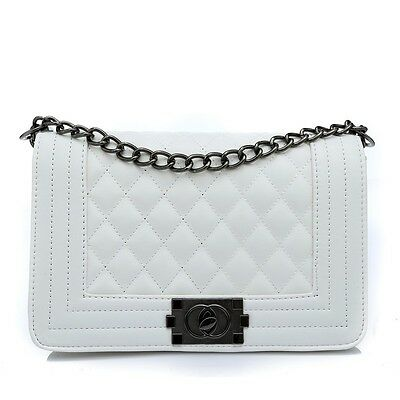 Classic Fashion Women's Quilted PU Leather Chain Purse Shoulder Bag 5 Color