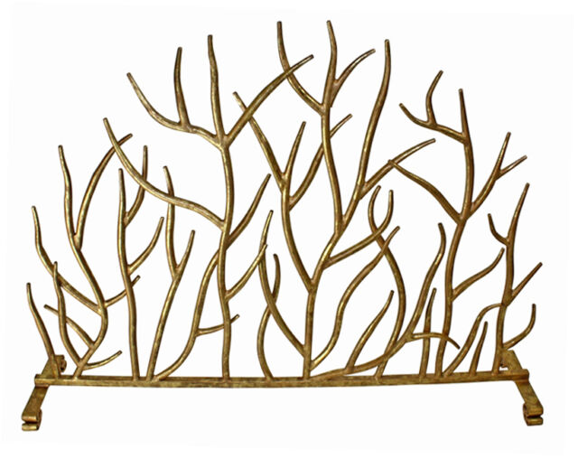 Fireplace Screens Sherwood Forest Decorative Fire Screen Italian Gold For Sale Online