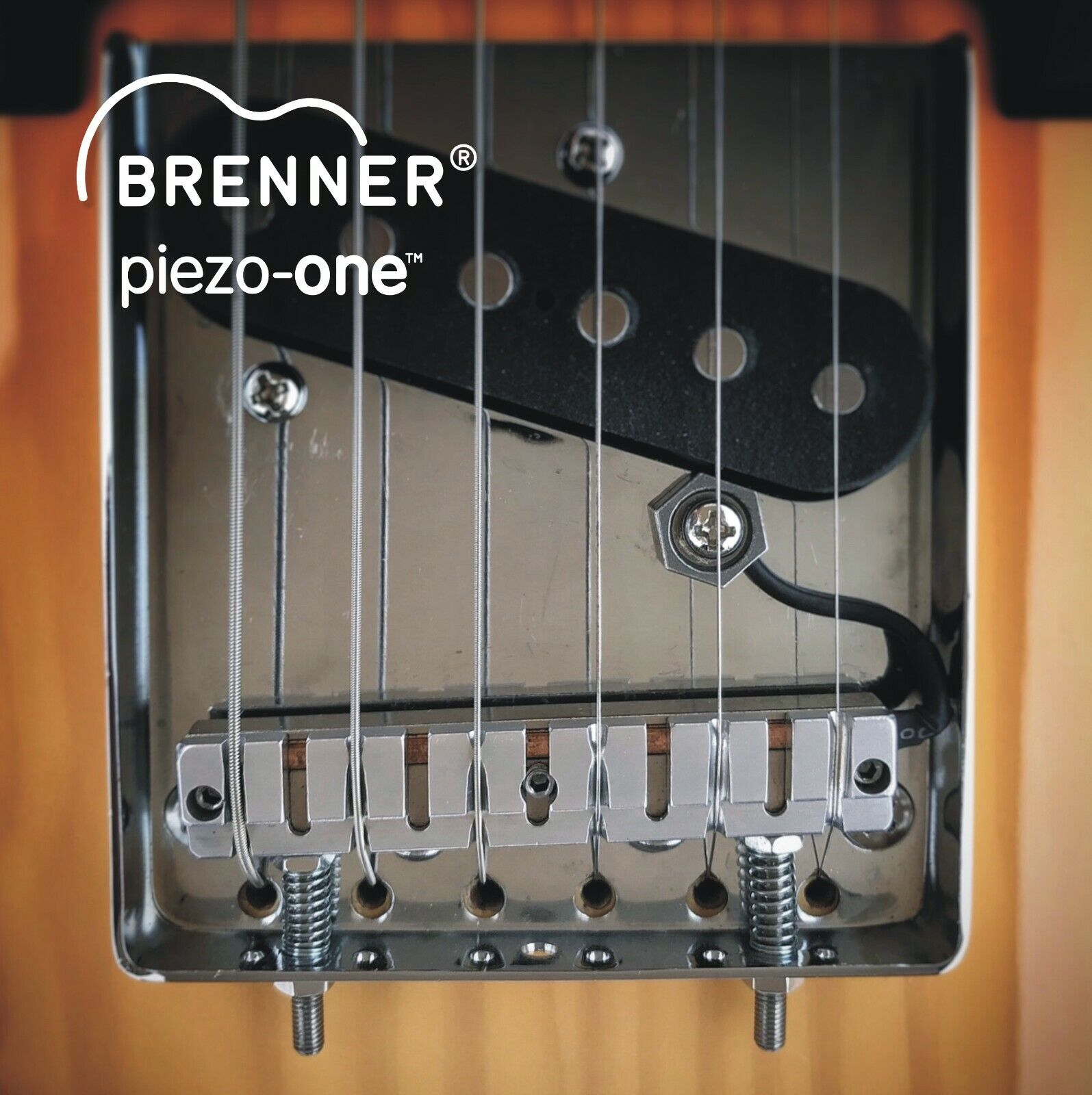 Brenner piezo-one saddle for Tele no-modification conversion to hybrid guitar