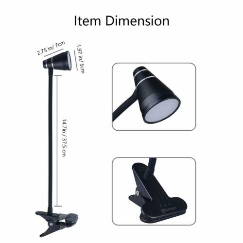 Headboard Light With Strong Clamp Bed Cesunlight A9 Led Clip Desk Lamp Black
