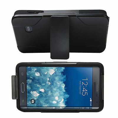 Rugged Armor Hard Impact Cover Case+Clip Holster for Samsung Galaxy Note Edge