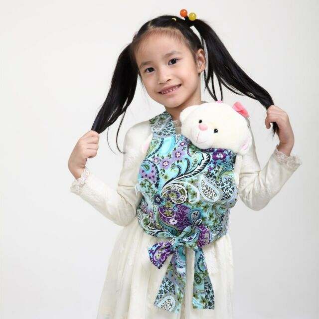 b0e82a7b890 Baby Doll Carrier Mei Tai Sling Toy Kids Children Toddler Paisley Christmas  Gift
