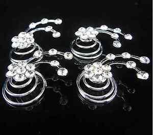 Haarspiralen Curlies Haarschmuck Perle mit Strass Hochzeit Kommunion Haarnadeln