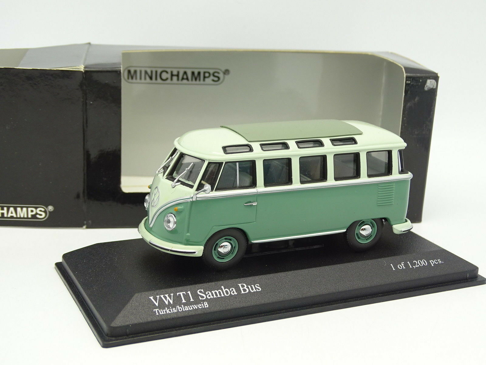 Minichamps 1 43 43 43 - VW Combi T1 Samba Bus Turkis blueweiss 32217b