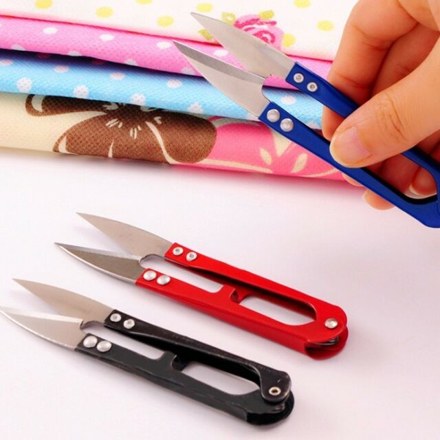 Tools 3pcs Multicolor Useful Trimming Scissors Nippers U Shape Clippers Sewing Embroidery Thrum Yarn Stainless Steel Scissors Nipper