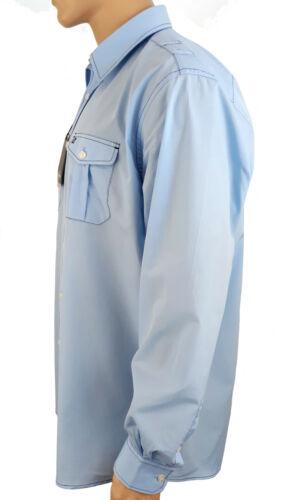 45//46 Blau 100/% Baumwolle CALAMAR Herren Hemd Langarmhemd Business Freizeit Gr