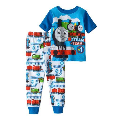 Thomas The Train 2 PC Short Sleeve Tight Fit Cotton Pajama Set Boy Size 3T 4T
