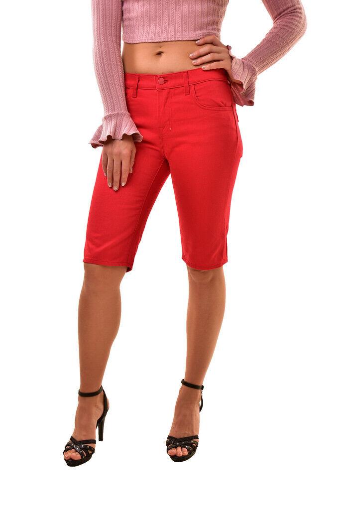 J Brand Damen Simona Rocha SR9022T Jake Shorts Rot Größe 24 UVP BCF810