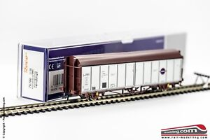 ROCO-76786-H0-1-87-Carro-merci-a-pareti-scorrevoli-RENFE-modello-Hbis-ditta