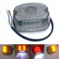 Led Tail Brake Turn Light Smoke For 91-10 Harley Sportster Softail Dyna Lay Down