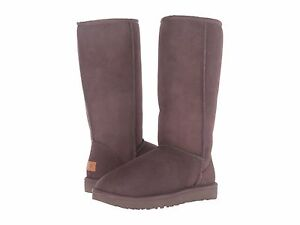 Women-039-s-Shoes-UGG-CLASSIC-TALL-II-Slip-On-Sheepskin-Boots-1016224-CHOCOLATE