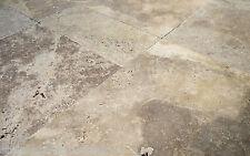 1x Musterplatte Travertin Noce Antikmarmor 10x10x3 cm Steinplatten Bodenplatten