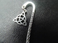 Tibetan Silver Bookmark with a Triquetra Charm