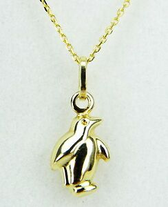 9ct yellow gold penguin pendant on 9ct gold belcher chain stamped image is loading 9ct yellow gold penguin pendant on 9ct gold aloadofball Images